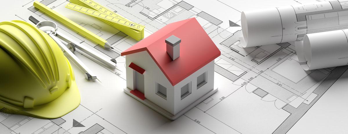 Einfamilienhaus Plan mit Haus